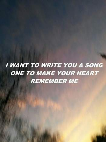 i want to write you a love song