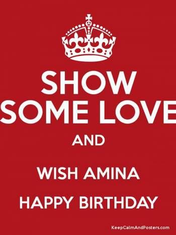 Поздравление амины с днем рождения